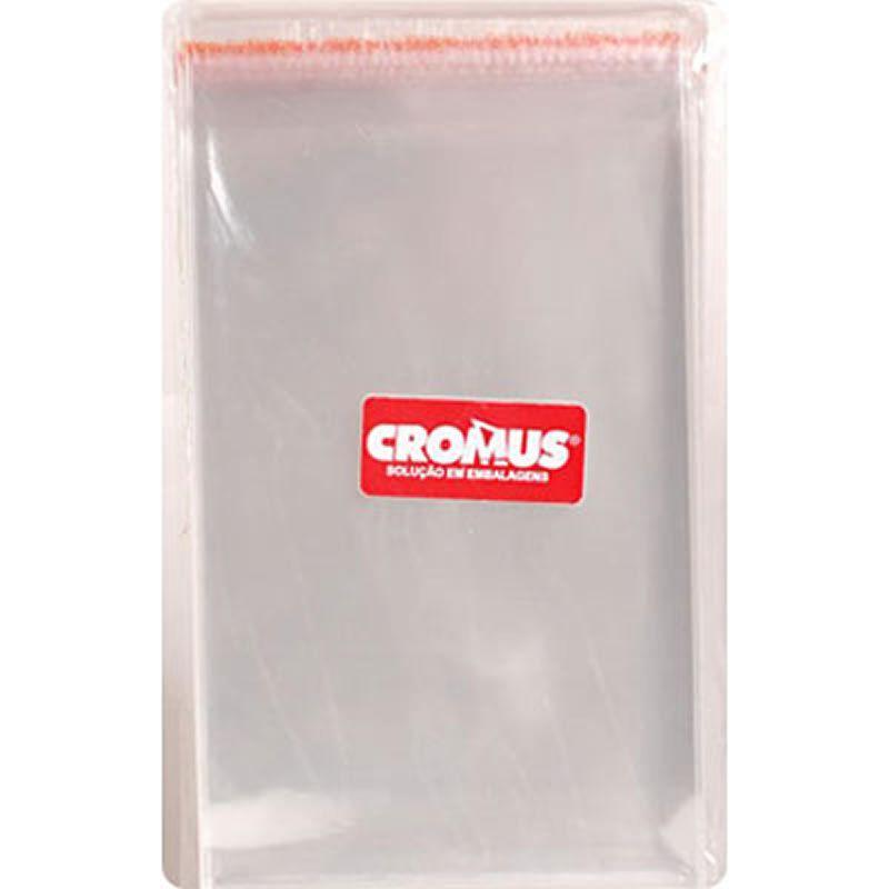 Saco Transparente Com Aba Adesiva e Furo 10X15 Cromus Com 100 Un 11300189 26692