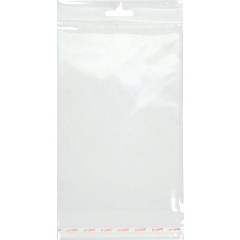 Saco Transparente Com Aba Adesiva e Furo 7,5X13 Cromus Com 100 Un 11300188 26691