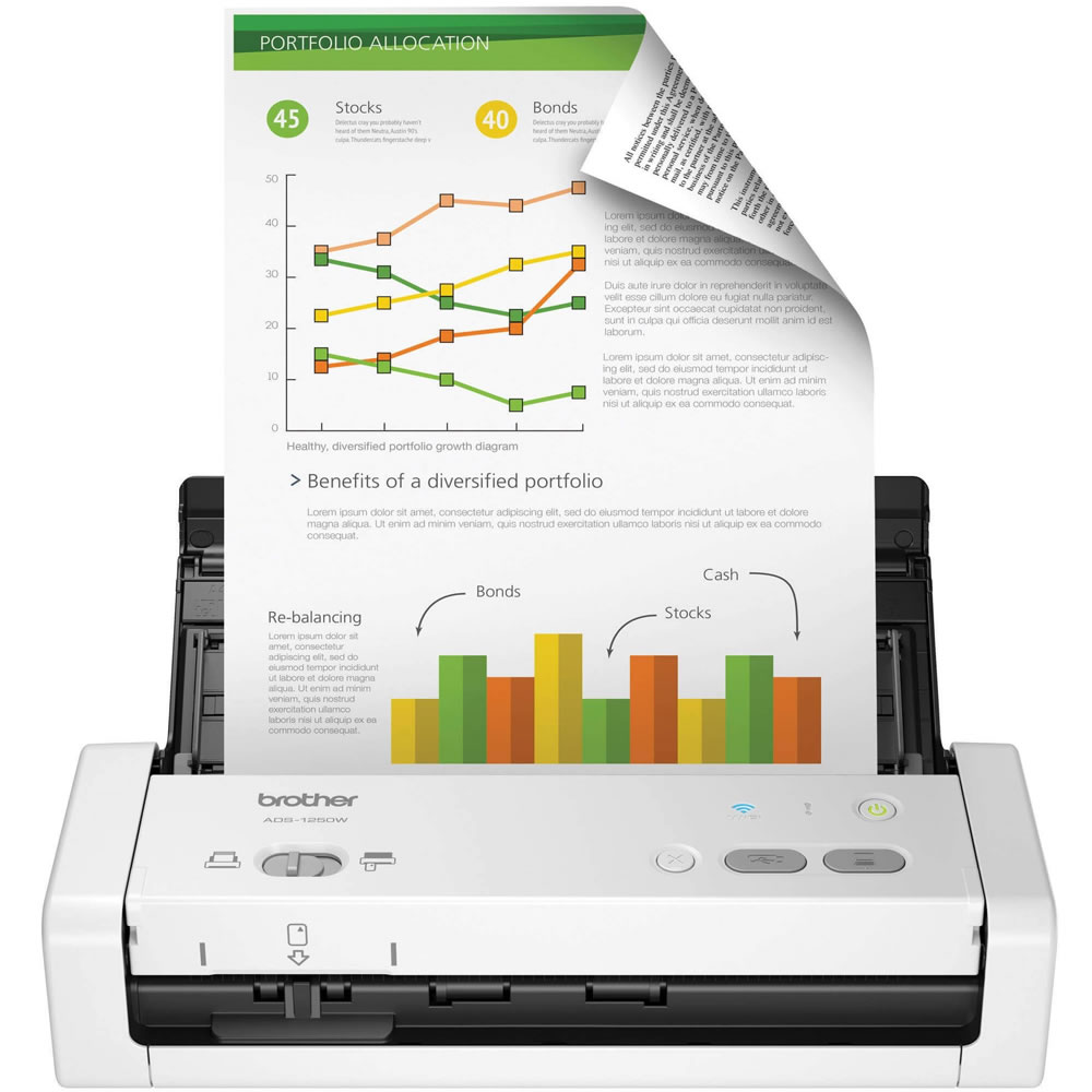 Scanner Compacto ADS-1250W Brother 27246