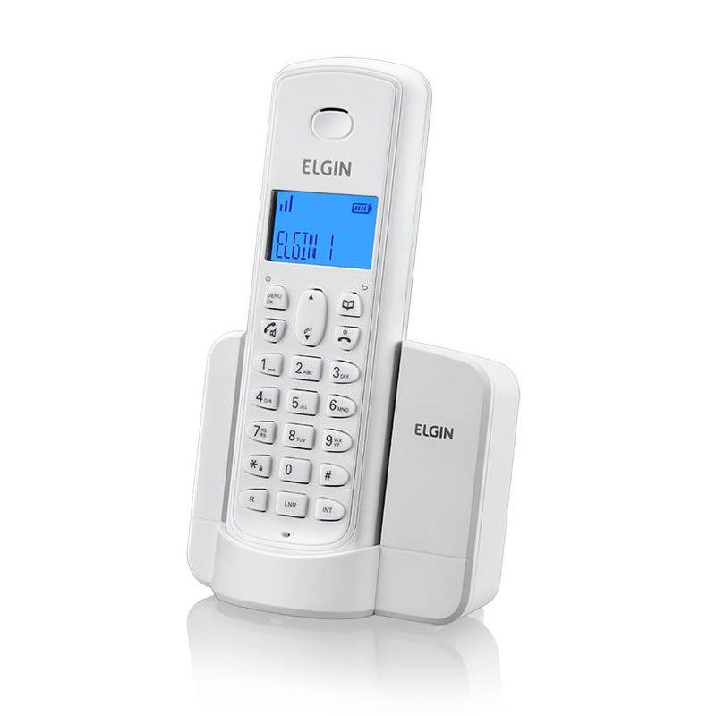 Telefone Elgin Sem Fio Identificador Chamada / Viva Voz / Branco TSF8001B 27212