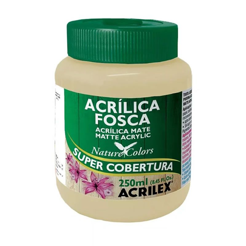 Tinta Acrilica Acrilex Fosca 250ml Amarelo Pele 538 03525 25287