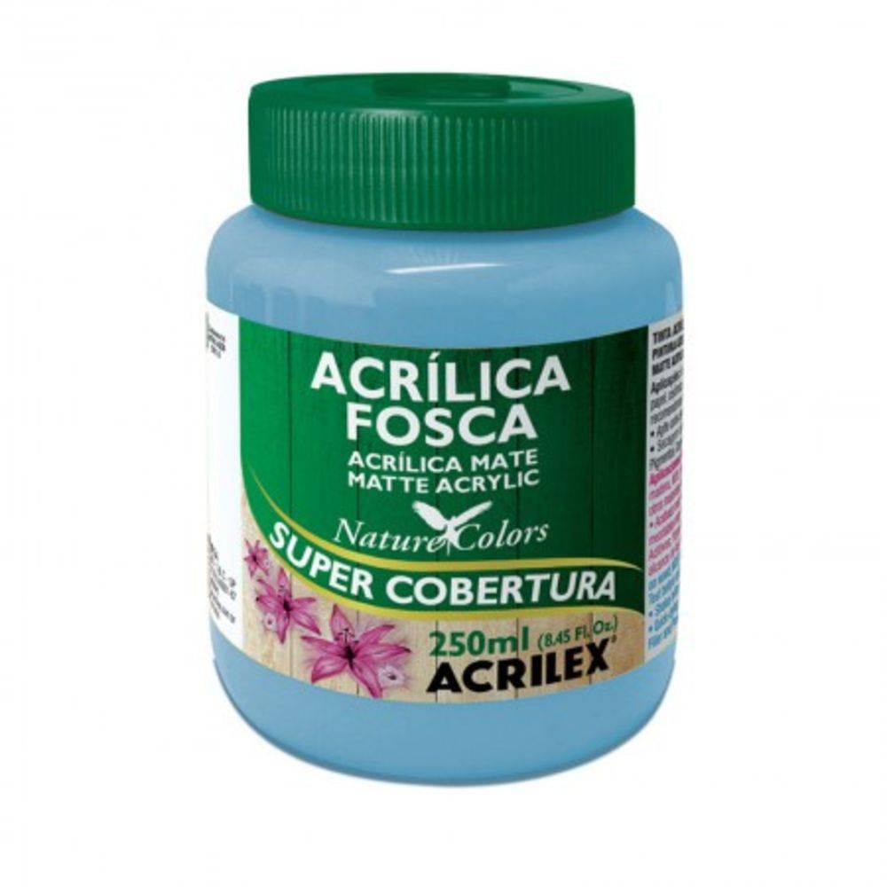 Tinta Acrilica Acrilex Fosca 250ml Azul Celeste 503 03525 25278