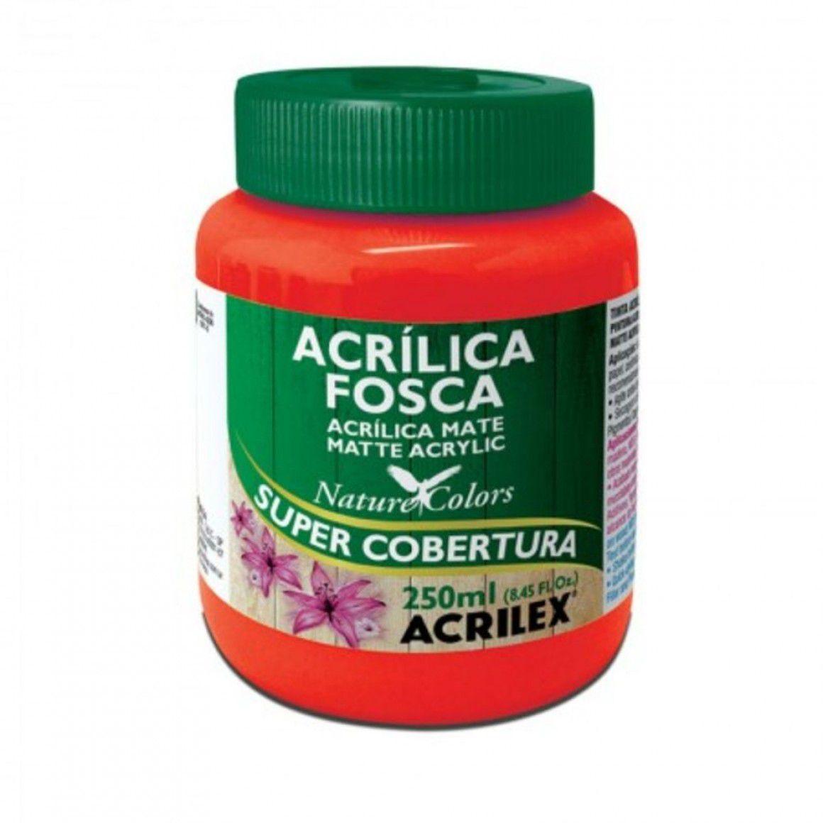 Tinta Acrilica Acrilex Fosca 250ml Vermelho Fogo 507 03525 25280