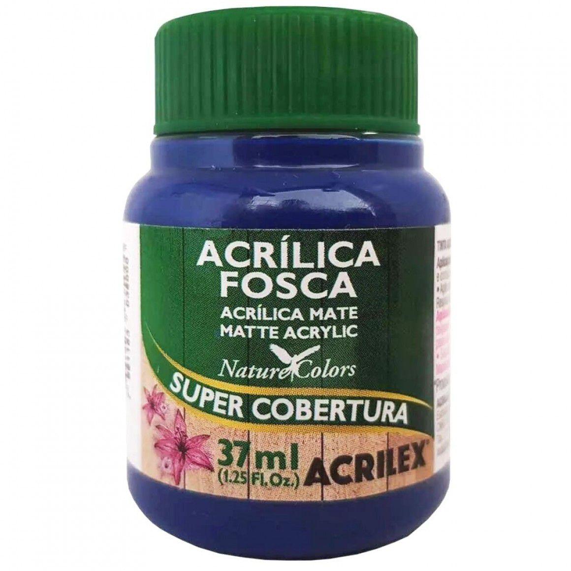 Tinta Acrilica Acrilex Fosca 37ml Azul Turquesa 501 03540 25288