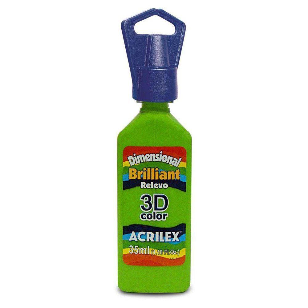 Tinta Dimensional Relevo 3D Acrilex 35ml Verde Abacate 572 12112 05388