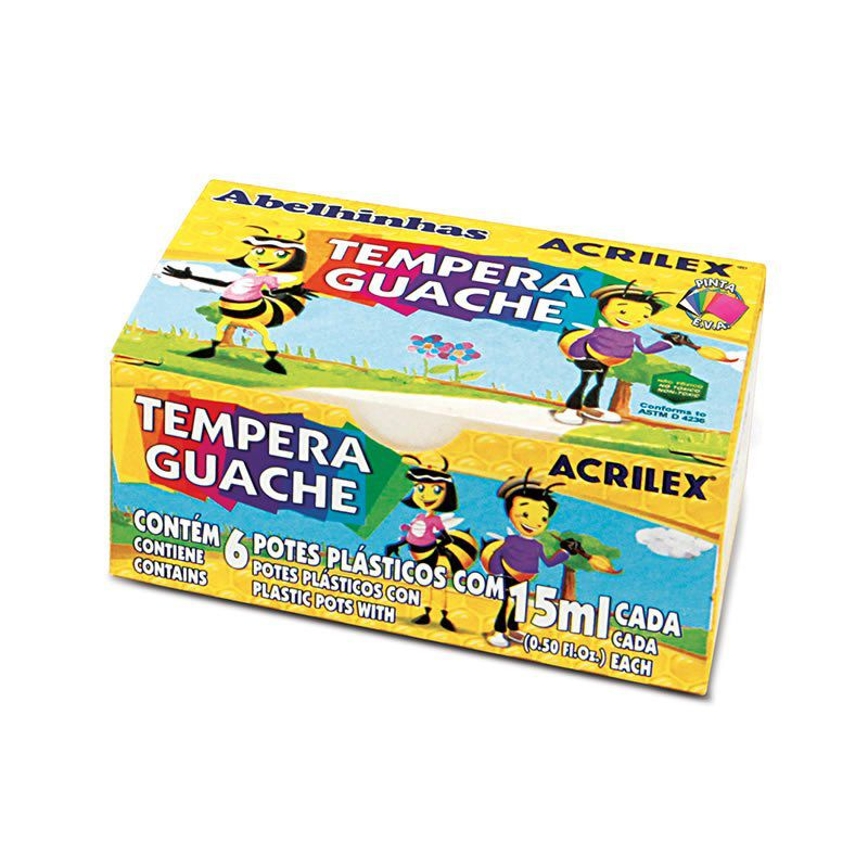 Tinta Guache 15Ml 6 Cores 02020 Acrilex 11155