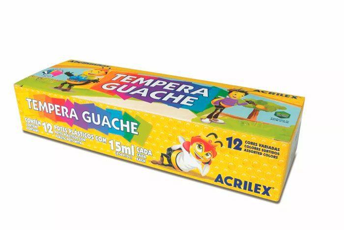 Tinta Guache Acrilex 15Ml 12 Cores 02012 22420