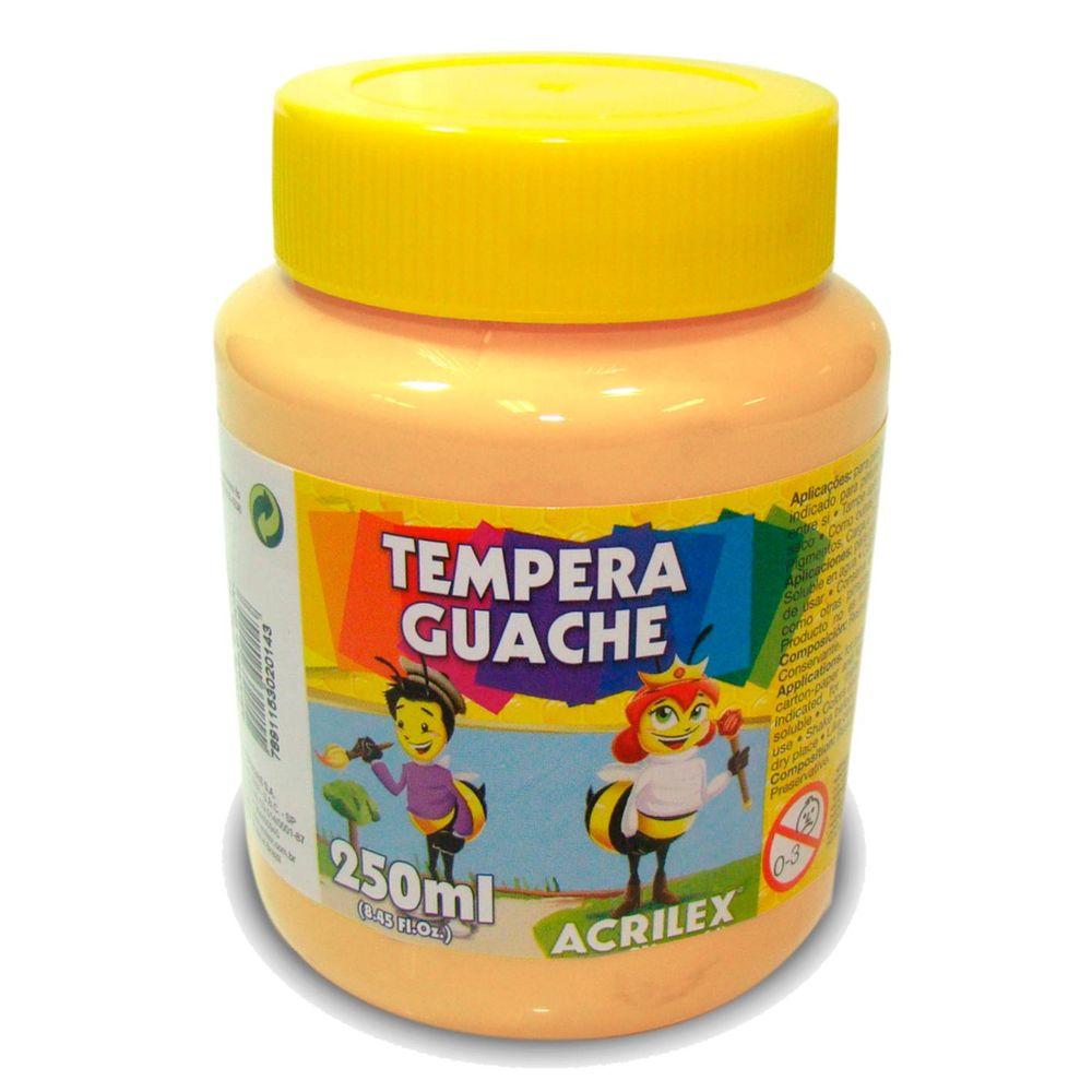 Tinta Guache Acrilex 250ml Amarelo Pele 538 02023 03965
