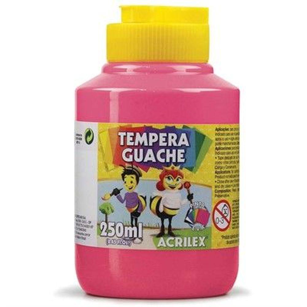 Tinta Guache Acrilex 250ml Rosa 537 02025 04167