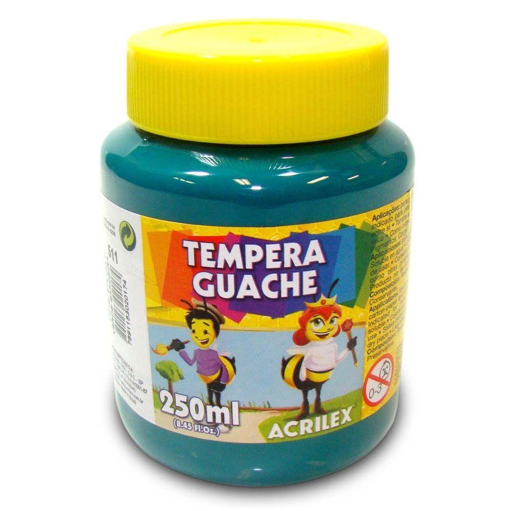 Tinta Guache Acrilex 250ml Verde Bandeira 511 02025 03961