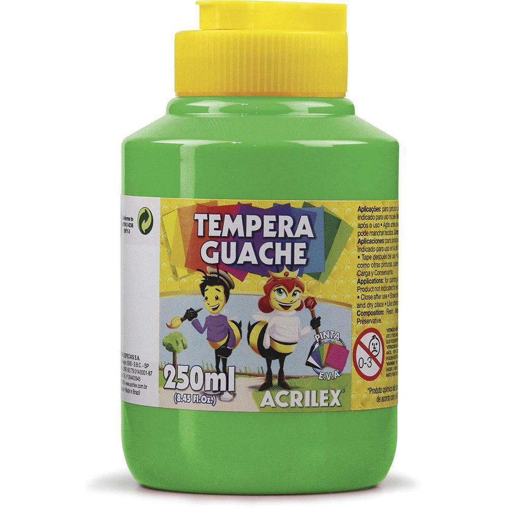 Tinta Guache Acrilex 250ml Verde Folha 510 02025 03960