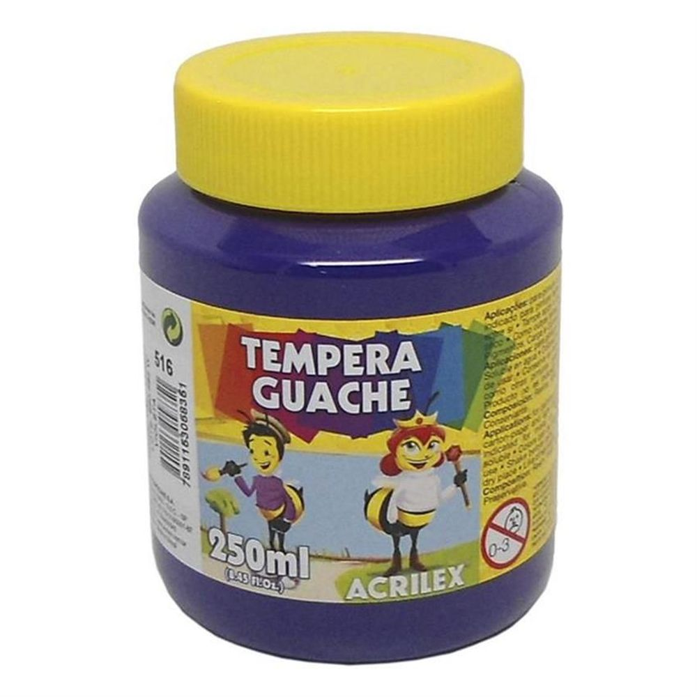 Tinta Guache Acrilex 250ml Violeta 516 02025 08851