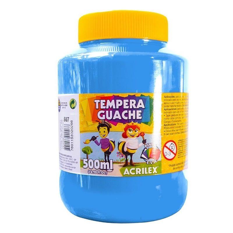 Tinta Guache Acrilex 500ml Azul Celeste 503 25235