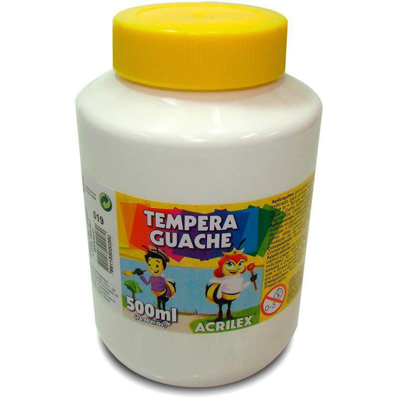 Tinta Guache Acrilex 500Ml Branco 519 020500519 25240