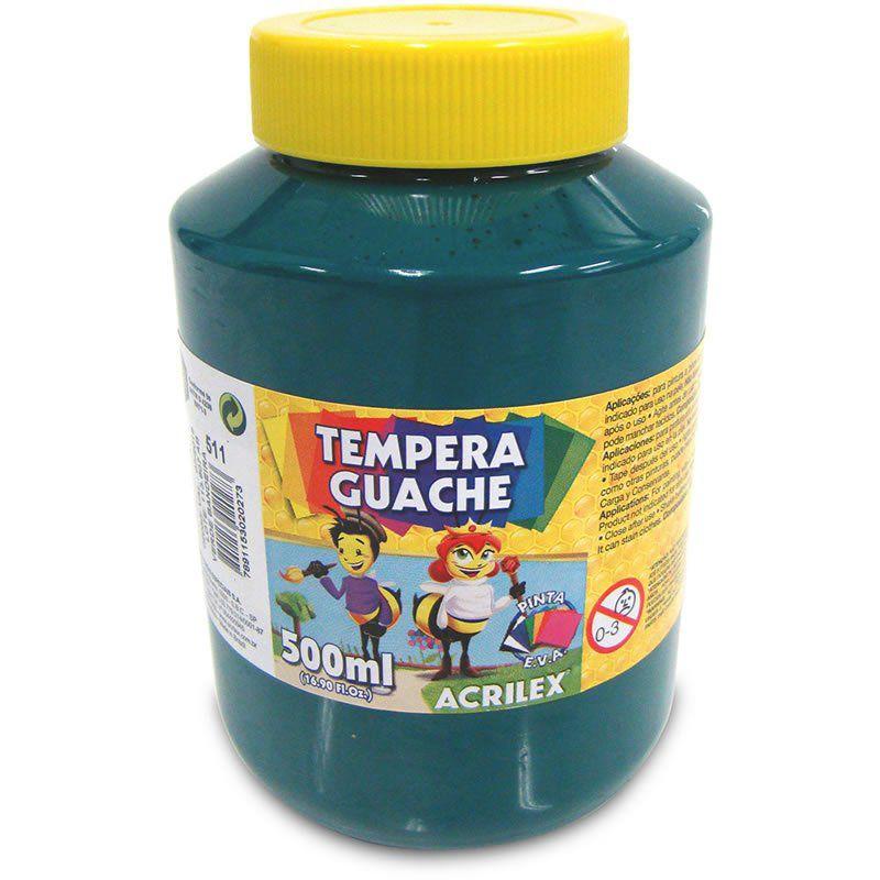 Tinta Guache Acrilex 500Ml Verde Bandeira 511 020500511 25239
