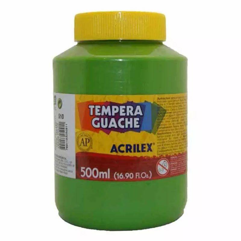 Tinta Guache Acrilex 500Ml Verde Folha 510 020500510 25238
