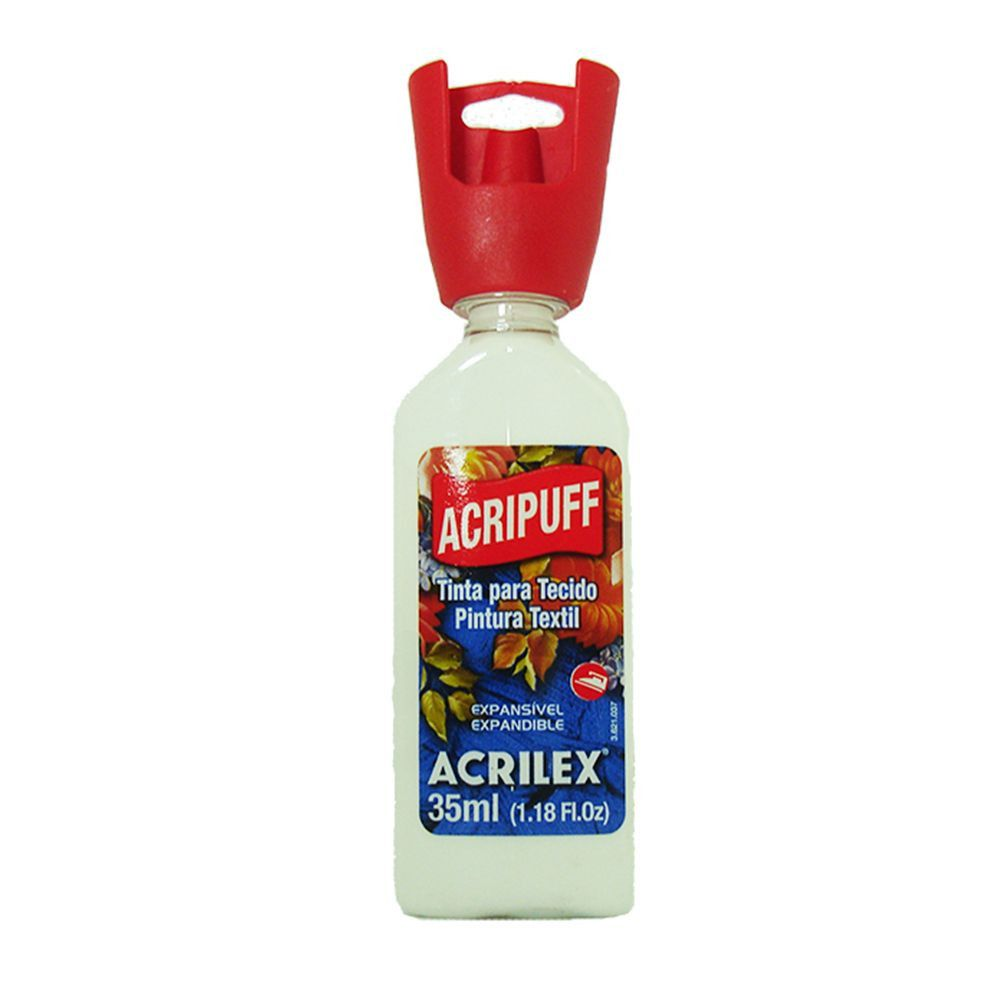 Tinta Tecido Acrilex 35ml Acripuff Branco 519 04812 05452