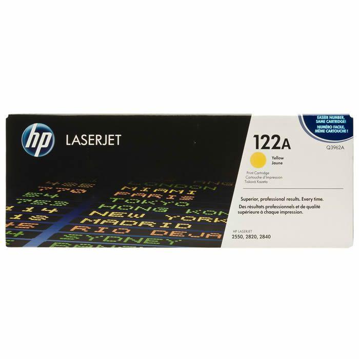Toner HP 122A Amarelo Laserjet Original (Q3962A) 06479