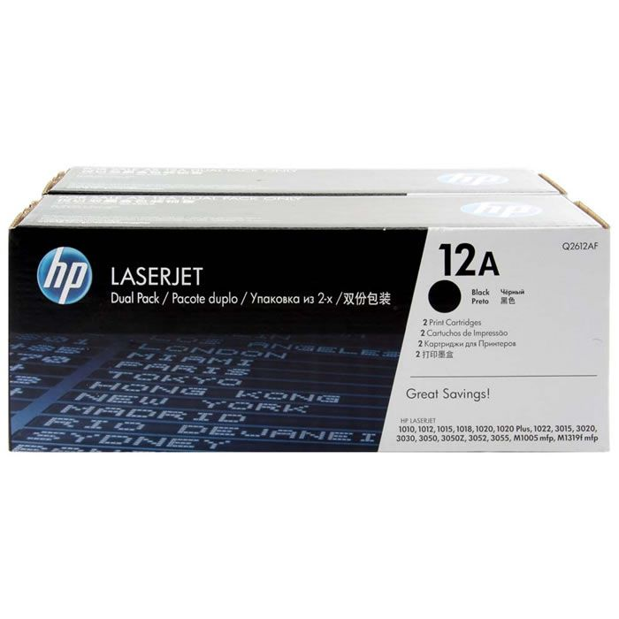 Toner HP 12A Preto Dual Pack Laserjet Original (Q2612AE) 22082