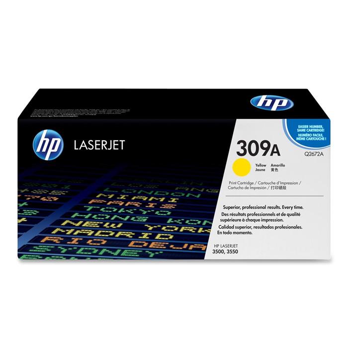 Toner HP 309A Amarelo Laserjet Original (Q2672A) 06318