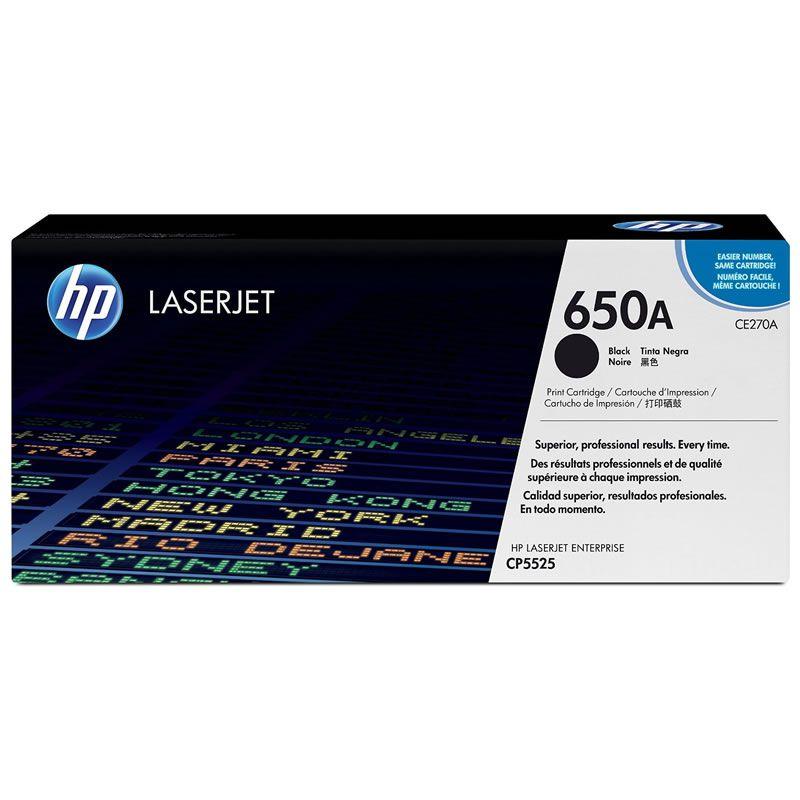 Toner HP 650A Preto Laserjet Original (CE270A) 15726