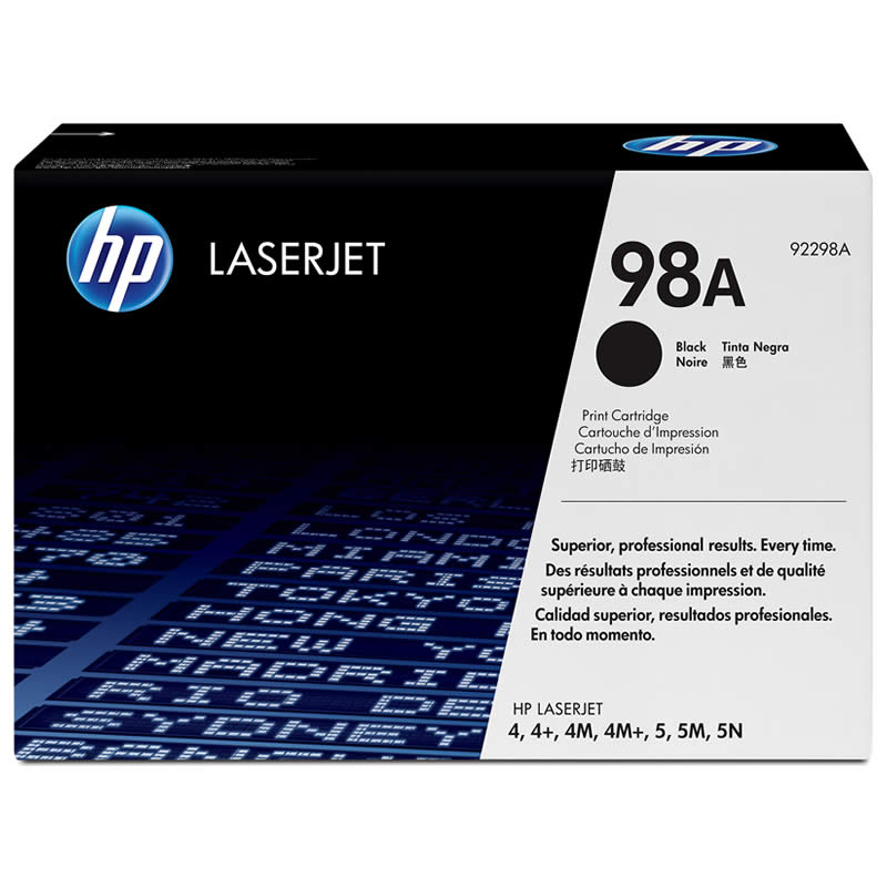 Toner HP 98A Preto Laserjet Original (92298A) 00294