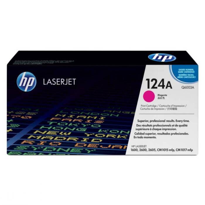 Toner HP 124A Magenta Laserjet Original (Q6003AB) 16381