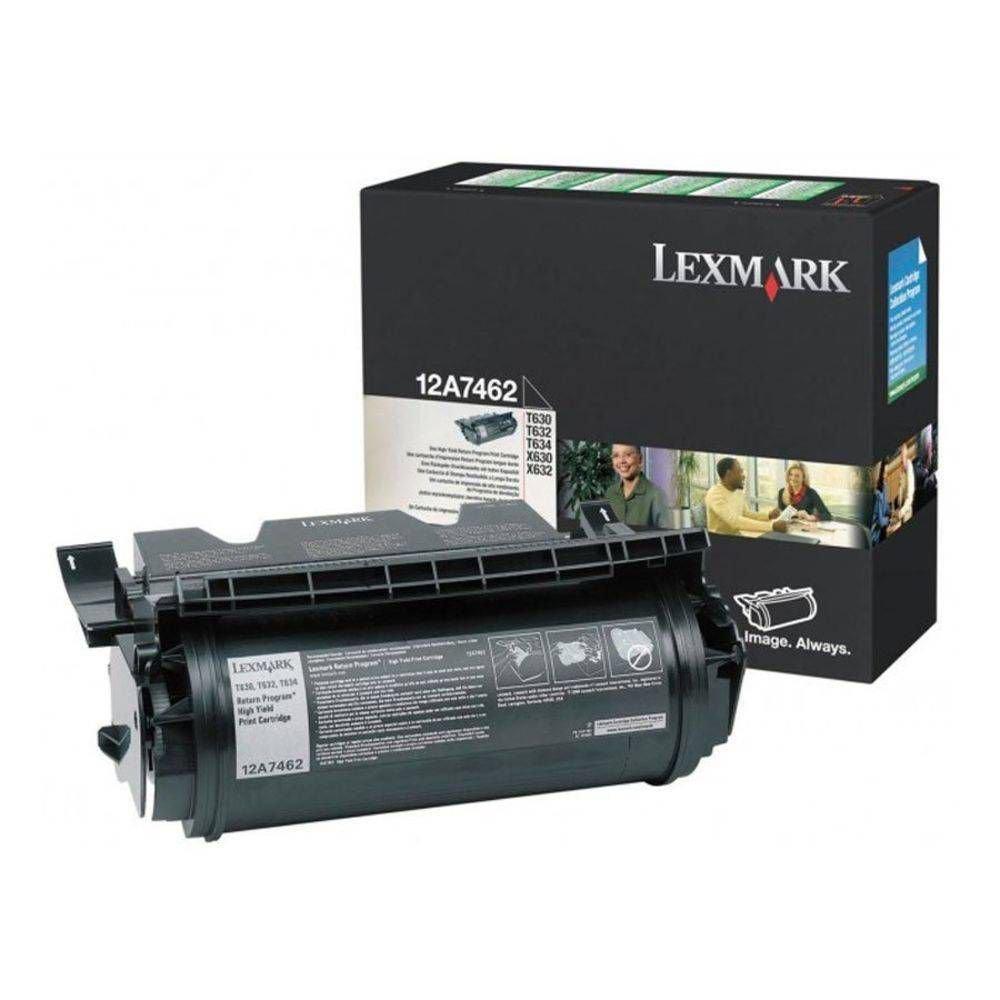 Toner Lexmark 12A7462 Preto 05300