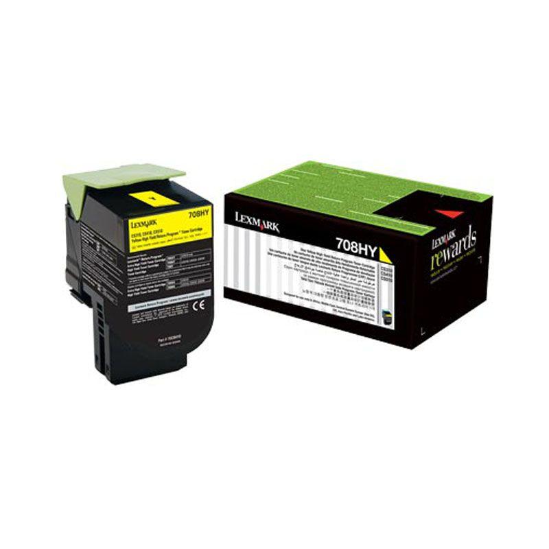 Toner Lexmark 70C8Hy0 Amarelo 20645