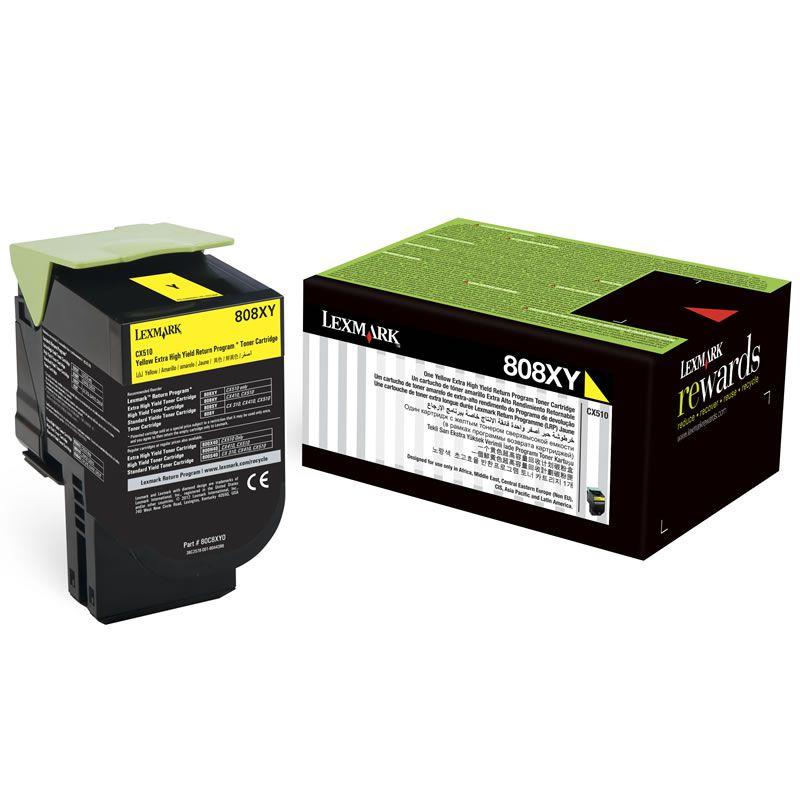 Toner Lexmark 80C8Xy0 Amarelo 20648
