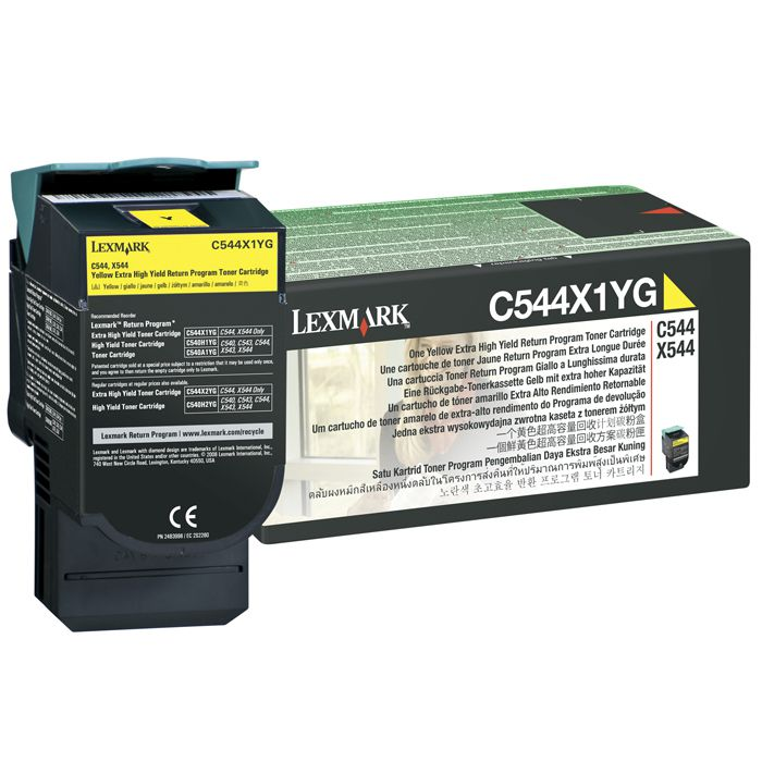 Toner Lexmark C544X1Yg Amarelo 14321