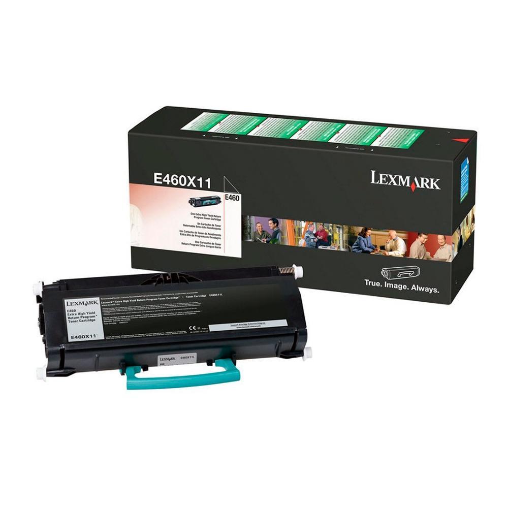 Toner Lexmark E460X11B Preto 20782
