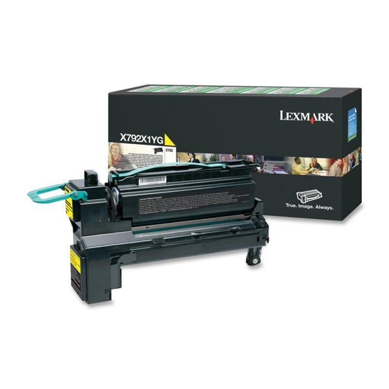 Toner Lexmark X792X1YG Amarelo 24648