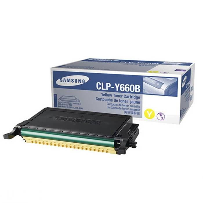 Toner Samsung CLP-Y660B Amarelo 17740