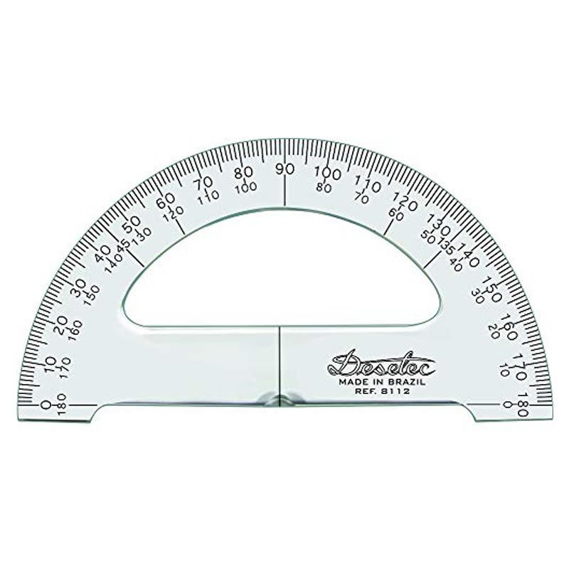 Transferidor Trident 12cm 180 Graus 3mm 8112 17051