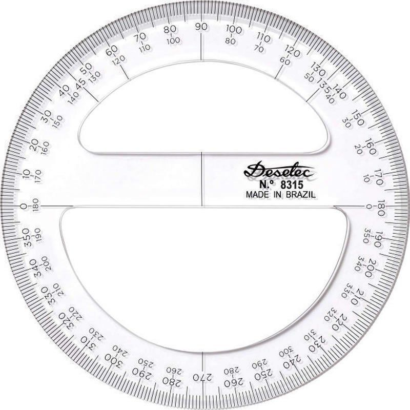 Transferidor Trident 12cm 360 Graus 3mm 8312 17052