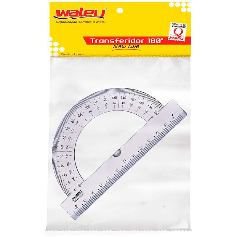 Transferidor Waleu 180 Graus Liso Bl. 480 16143