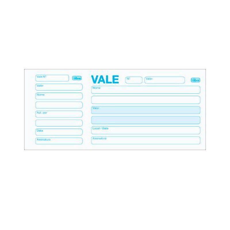Vale Com Canhoto 100 folhas 151564 Tilibra 01668