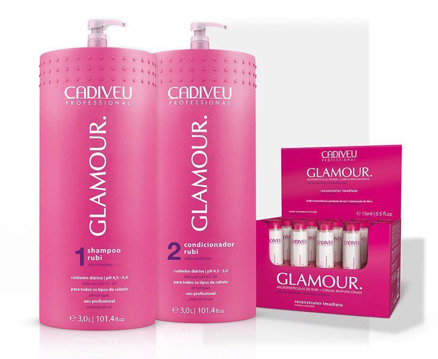 Glamour - Kit Profissional Lavatório com Ampolas - Cadiveu Professional
