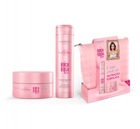 Kit Completo de Tratamento Boca Rosa Hair + Necessaire