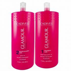 Kit Glamour Profissional Shampoo + Condicionador 3L - Cadiveu Professional