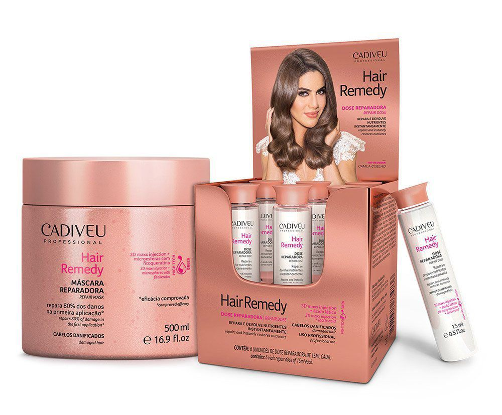Hair Remedy - Kit Profissional Ampolas e Máscara 500ml