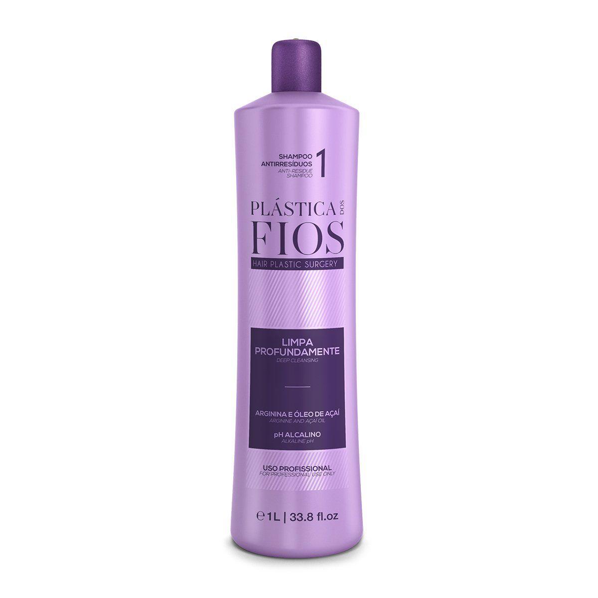 Plástica dos Fios - Shampoo Antirresíduos 1L