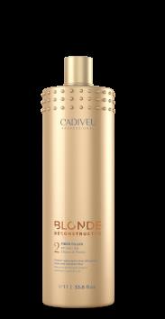 Blonde Reconstructor - Máscara de Proteína 1L - Fiber Filler & GANHE UMA CAMISETA