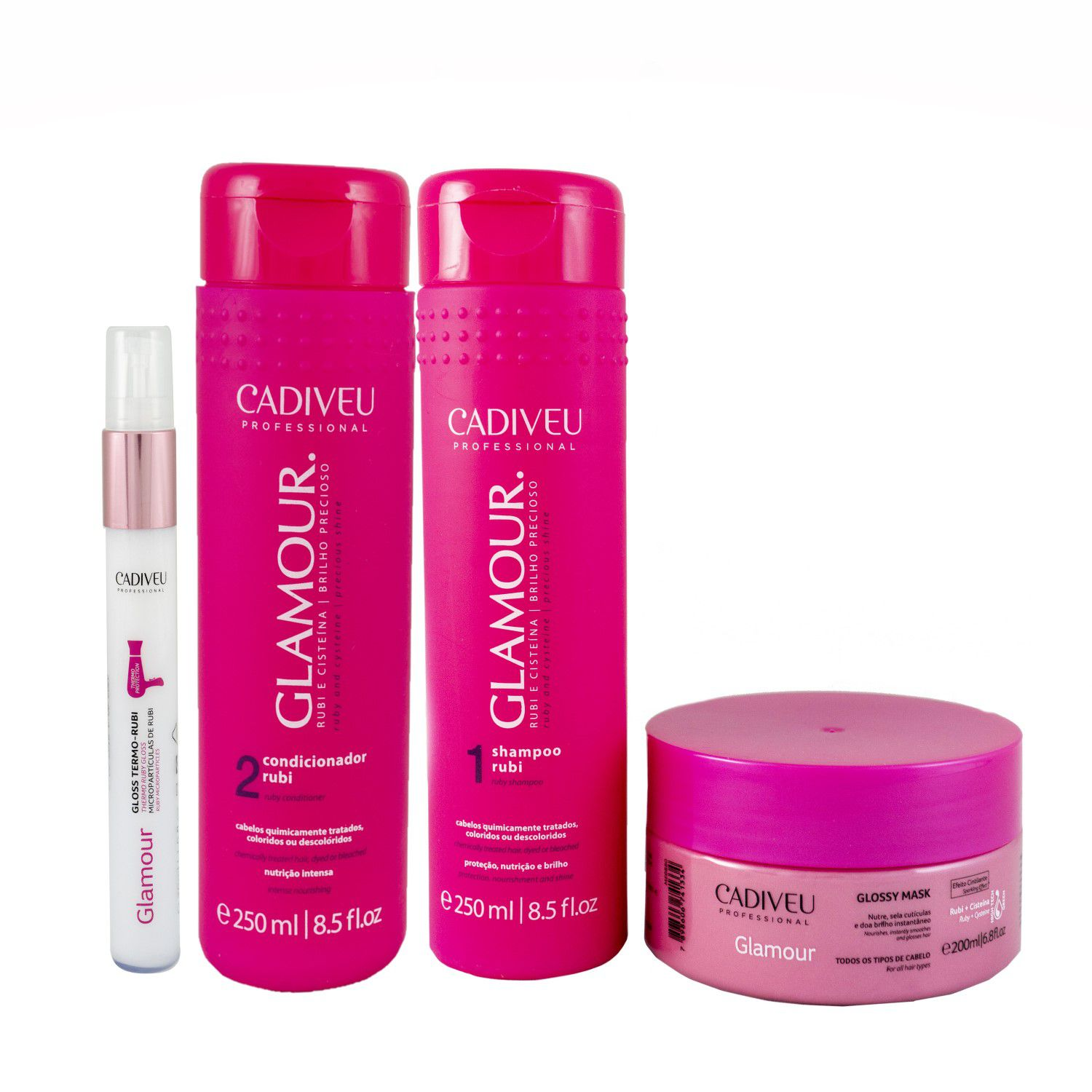 Kit Glamour II Home Care - Cadiveu Professional