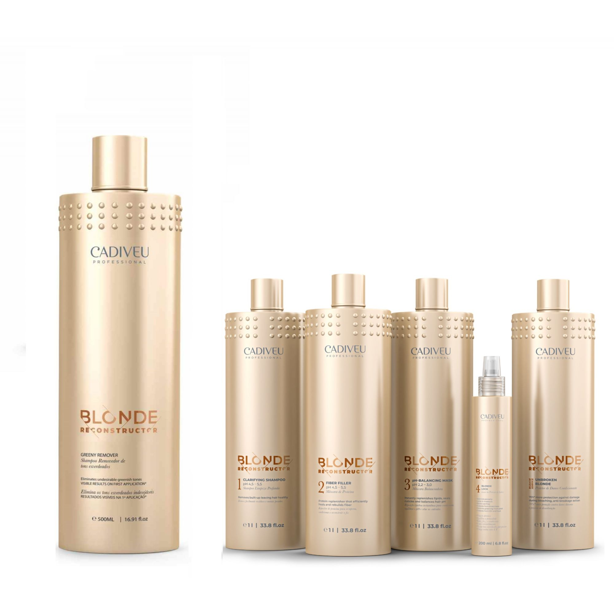 Kit Greeny Remover + Kit Blonde Reconstructor