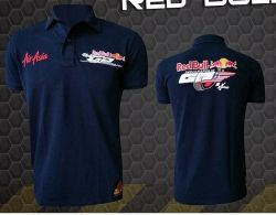 Camiseta Polo Red Bull Powered Preta