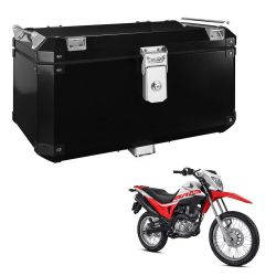 Bauleto Atacama 55L Bros 160 Aluminio Top Case Preto Bráz