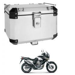 Bauleto Atacama Transalp 700 Aluminio 43L Escovado Top Case Bráz