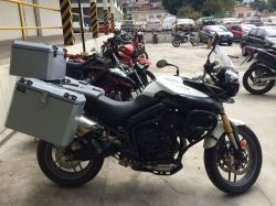 Bauleto lateral 35L Tiger 800 XC/XRX/XCX/XR/ABS com suporte Livi